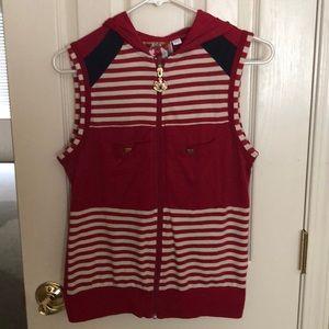 "L.A.M.B. 2007 Nautical hooded ""L"" vest. Good cond!"